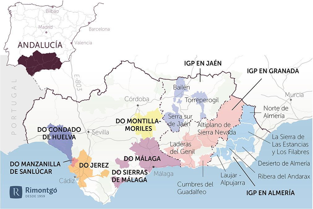Map of the community of Andalusia
