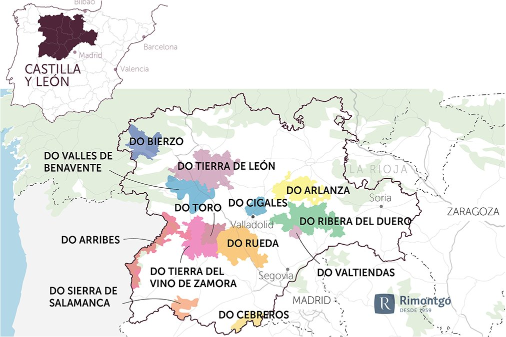 Map of the community of Castile and León