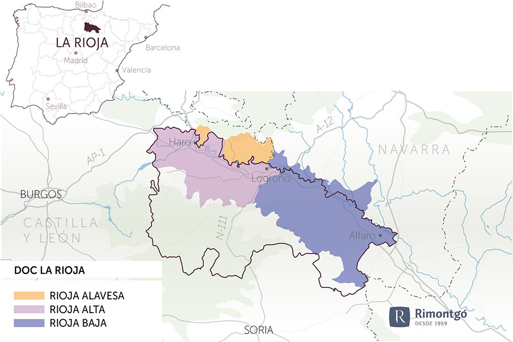 Map of the community of La Rioja