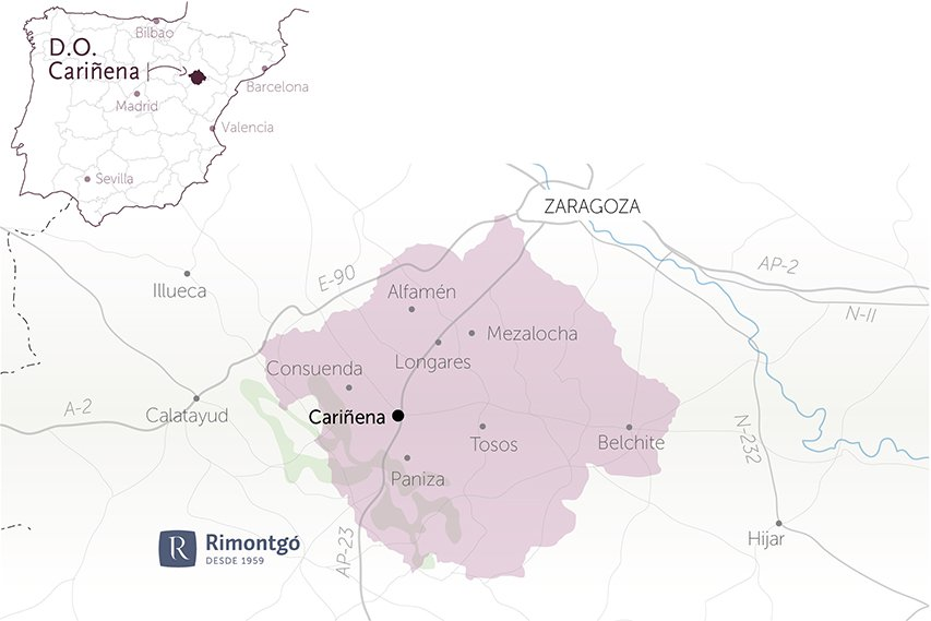 map wineries do cariñena for sale