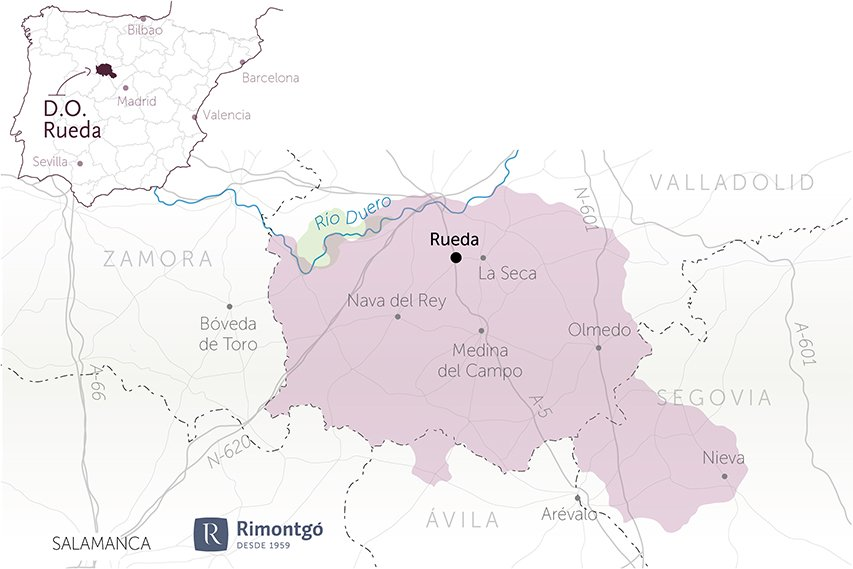 map wineries for sale do rueda