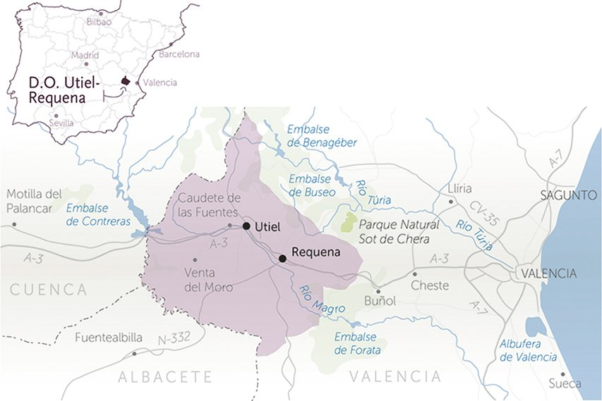 map of the wineries for sale do utiel-requena