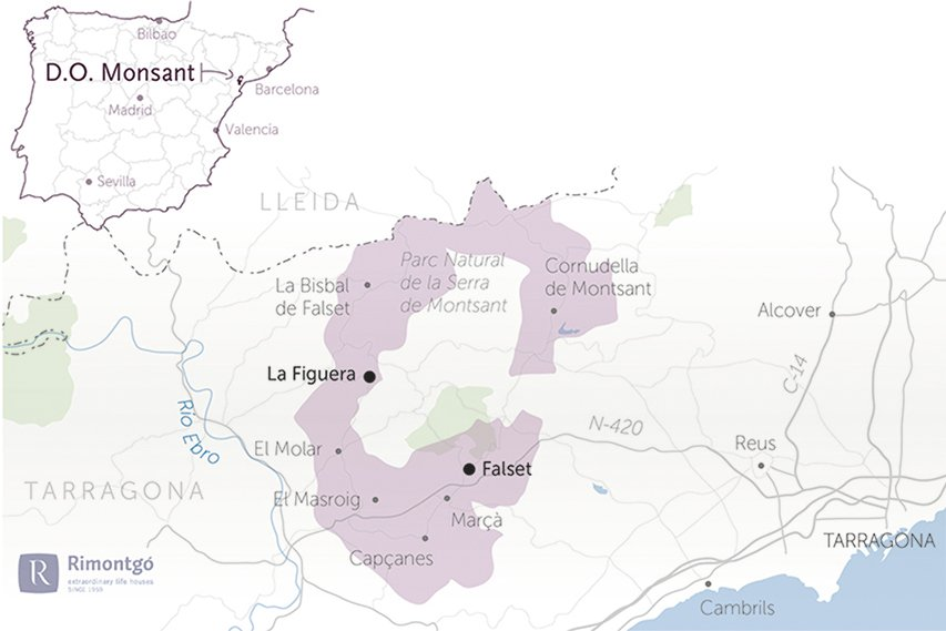 map of the wineries for sale do montsant