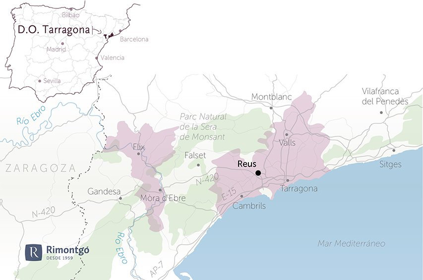 map wineries and vineyards for sale do tarragona