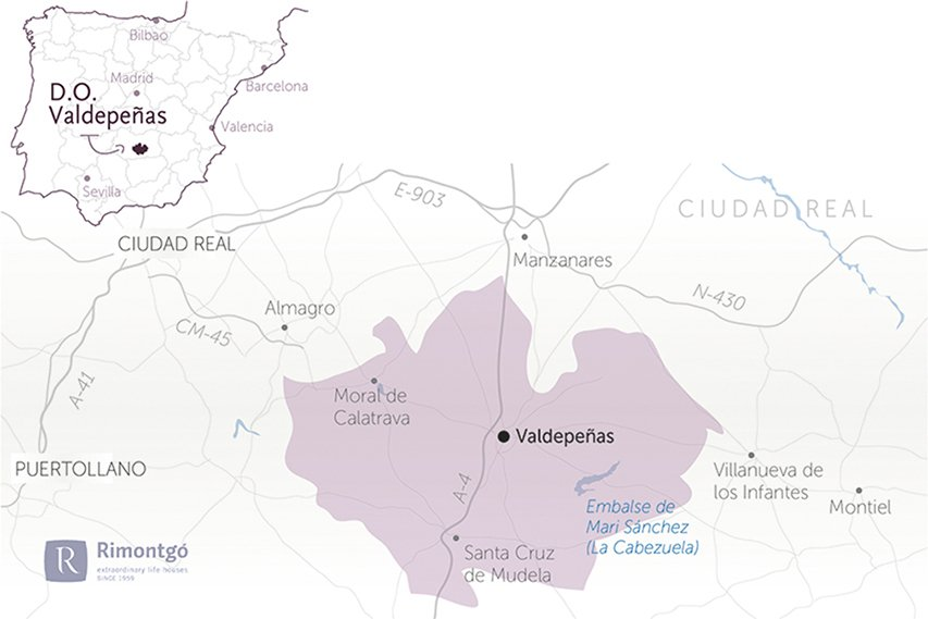 Map DO Valdepeñas