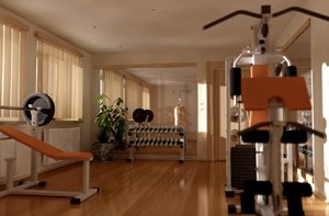 Home gyms encourage physical fitness