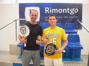Two of the winners of the I Rimontgó Padel Tournament
